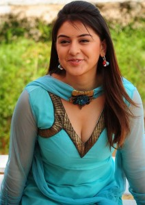 Actress Hansika Motwani Hot Cleavage Show Photos Gallery 1