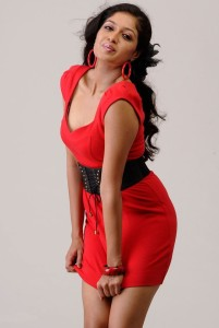 Actress Meghana Raj Hot Cleavage Show Pictures Gallery 7