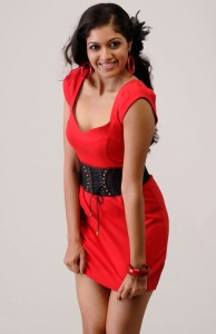 Tamil Actress Meghana Raj Hot Cleavage Show Pictures
