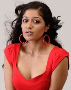 Meghana Raj Hot Cleavage Show Images