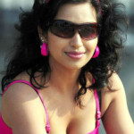 Actress Teertha Hot Cleavage Show Photos
