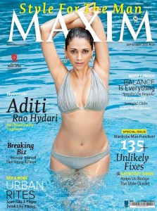 Aditi Rao Hydari Hot Bikini Stills in Maxim Magazine September 2013