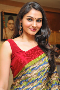Andrea Jeremiah Latest Photos Gallery in Saree 1