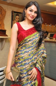Andrea Jeremiah Latest Photos Gallery in Saree 2