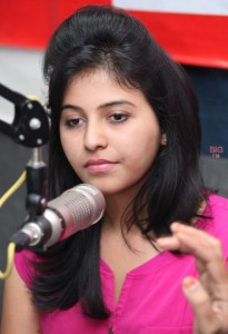 Anjali Sexy Pics At BIG FM 92.7 For Masala Movie Promotion