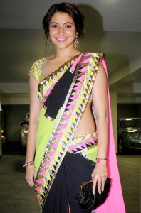 Anushka Sharma Latest Hot Sexy Saree Photos Gallery 1