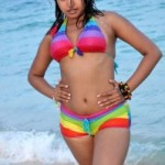Komal Jha Hot Bikini Photos At Beach