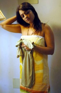 Nikitha Hot Photos in Towel