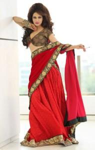 Poonam Jhawer Hot Photoshoot Pics in Saree