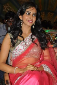 Rakul Preet Singh Sexy Pics At Venkatadri Express Movie Audio Launch