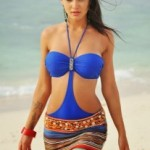 Amy Jackson Hot Photos At Beach in Yevadu Movie