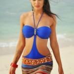 Amy Jackson Hot Photos At Beach in Yevadu Movie