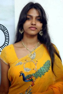 Dhanshika Hot Pics in Yellow Saree 1