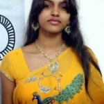 Dhanshika Hot Pics in Yellow Saree