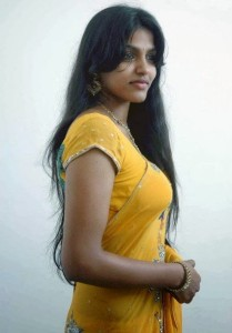 Dhanshika Hot Pics in Yellow Saree 3
