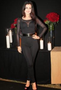 Ameesha Patel Hot Photos in Black Dress At Deepika Padukone Success Bash Party