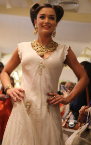 Amy Jackson Latest Stills in White Dress