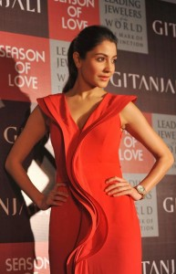 Anushka Sharma Images in Red Dress At Gitanjali Season of Love Collection Launch