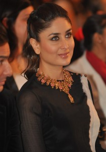 kareena Kapoor Cute Pics in Black Dress At IIFA Awards 2014 Press Conference Event