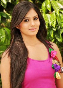 Deepa Sannidhi Cute Pics in Pink Dress