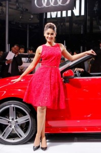 Ileana Launch Photos in Red Dress At Audi A3 Cabriolet Launch
