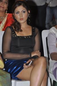 Madhu Shalini Spicy Stills in Skirt