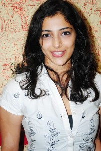 Telugu Actress Nishanthi Evani Cute Smiling Picturues Gallery