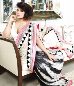 Richa Chadda Spicy Pics in Saree