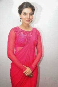 Samantha New Photos in Pink Saree