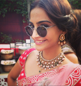 Actress Sonam Kapoor Latest Images At Her Friend Wedding Event