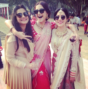 Sonam Kapoor Photos At Her Friend Wedding 4