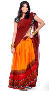 Vijayalakshmi Sexy Half Saree Images