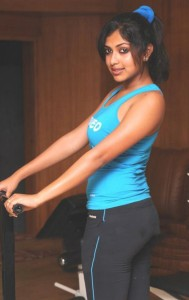 Amala Paul Spicy Gym Workout Stills
