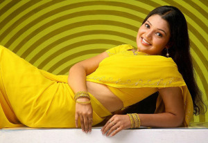Vandana Menon Sexy Photos in Yellow Saree