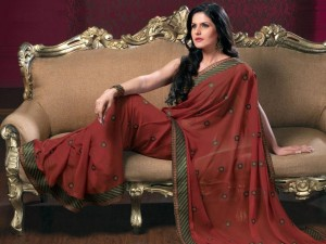 Bollywood Actress Zarine Khan Photoshoot Photos in Saree