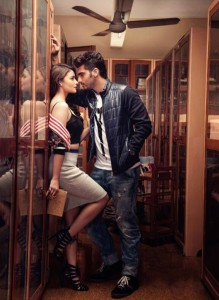 Alia Bhatt and Arjun Kapoor Hot Photos in Filmfare Magazine April 2014 Issue