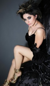 Alisa Khan Hot Legs Show Images in Black Dress