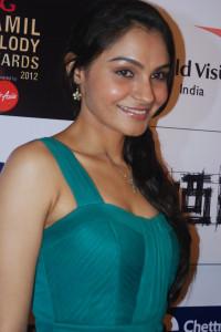 Actress Andrea Jeremiah Hot Pics At BIG Tamil Melody Awards