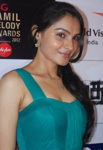 Andrea Jeremiah At BIG Tamil Melody Awards Pictures