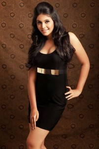 Anjali Spicy Photoshoot Pictures in Black Dress
