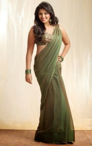 Anjali Hot Saree Photoshoot Stills