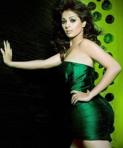 Anjana Sukhani Sexy Photoshoot Stills in Green Dress
