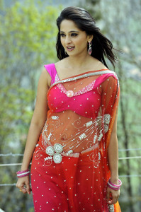 Actress Anushka Hot Navel Show Images Transparent Saree