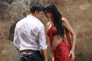 Arjun and Surveen Chawla in Itlu Prematho Telugu Movie Hot Photos