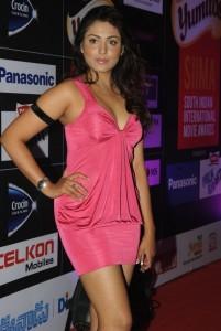 Madhu Shalini Hot Cleavage Show Photos At SIIMA Awards Pre Party