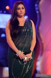 Actress Namitha Hot Navel Show Images in Transparent Saree