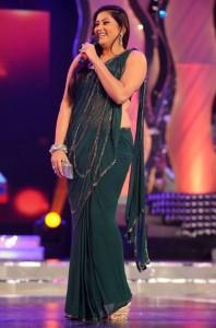 Namitha Hot Navel Pics in Transparent Green Saree
