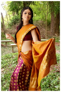 Nisha Shetty Cute Pics in Half Saree
