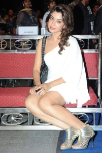 Payal Ghosh Sexy Thighs Show Images in White Dress