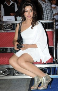 Payal Ghosh Hot Legs Show Photos in White Dress